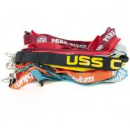 Flat Polyester Lanyard With Silk Screen Printing